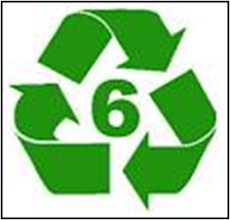 ... As long as they have the recycle symbol, with a 6 in center.