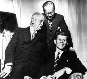 "John F. ""Jack"" Kennedy, right, grandfather John F. ""Honey Fitz"" Fitzgerald, left, and father Joseph P. ""Joe"" Kennedy."